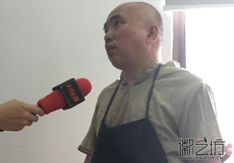 2017.6.3芜湖电视台芜湖日报来徽艺坊采访4