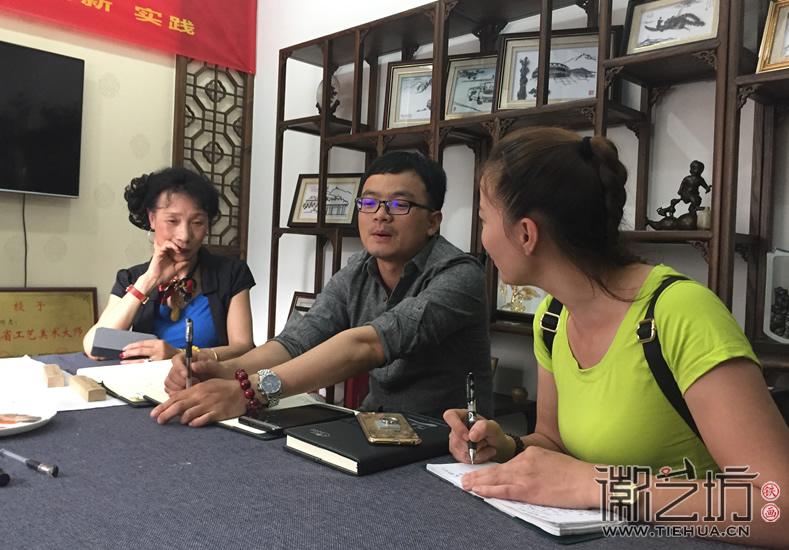 2017.6.3芜湖电视台芜湖日报来徽艺坊采访9
