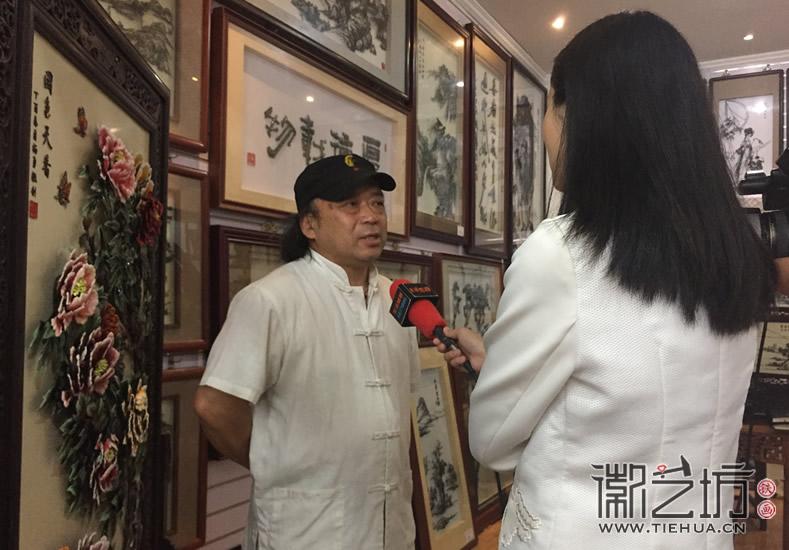 2017.6.3芜湖电视台芜湖日报来徽艺坊采访2