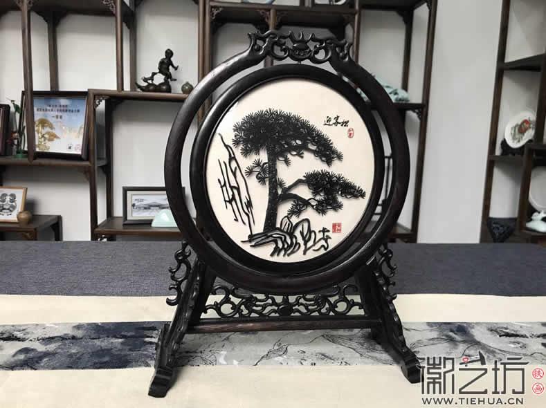 中国风铁画装饰摆件古香古色芜湖特色礼品纪念品